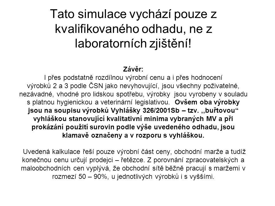 Tato simulace vychází pouze z kvalifikovaného odhadu, ne z laboratorních zjištění.