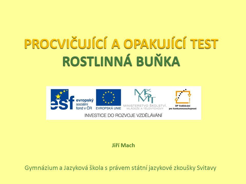 Gymnázium a Jazyková škola s právem státní jazykové zkoušky Svitavy Jiří Mach