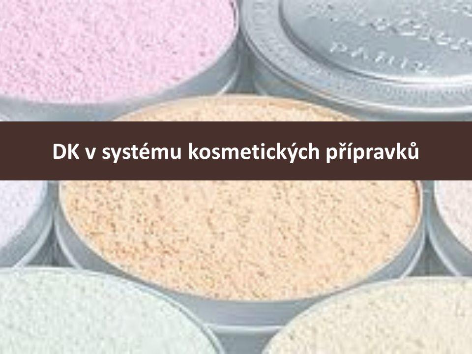 DK v systému kosmetických přípravků
