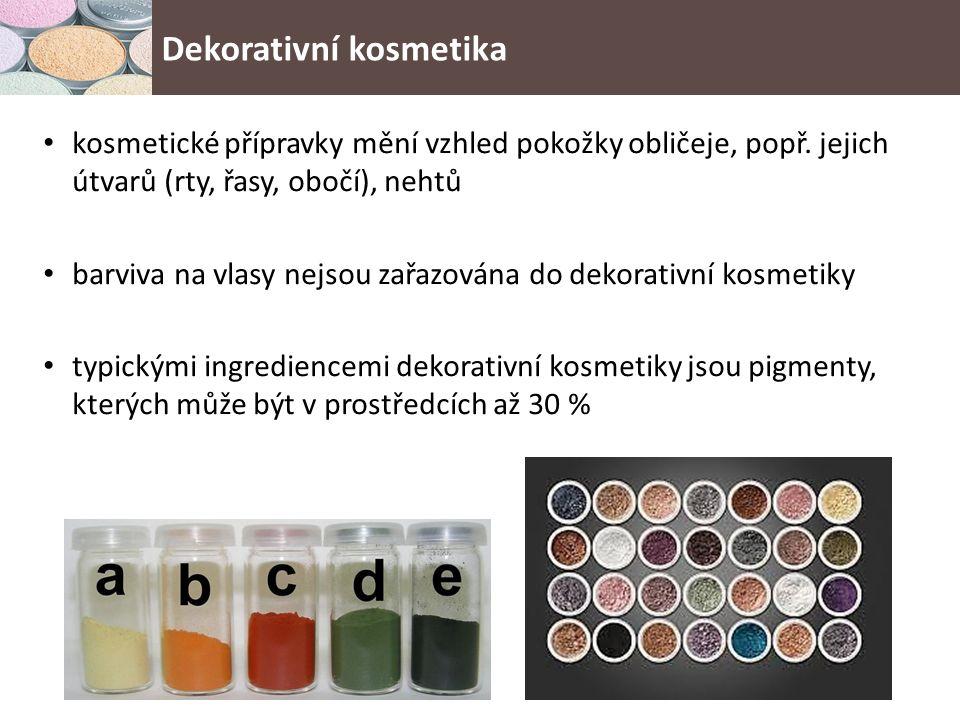 kosmetické přípravky mění vzhled pokožky obličeje, popř.