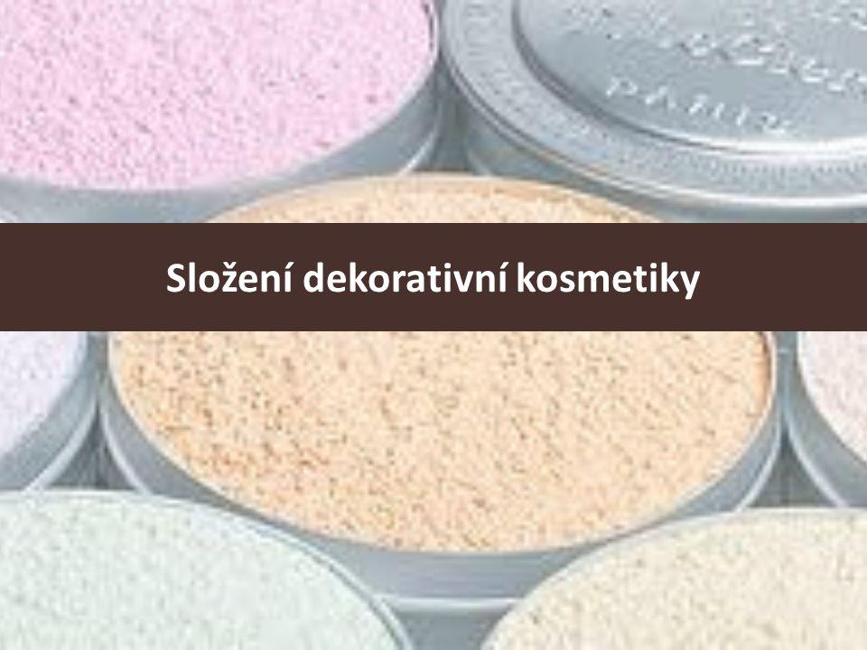 Složení dekorativní kosmetiky