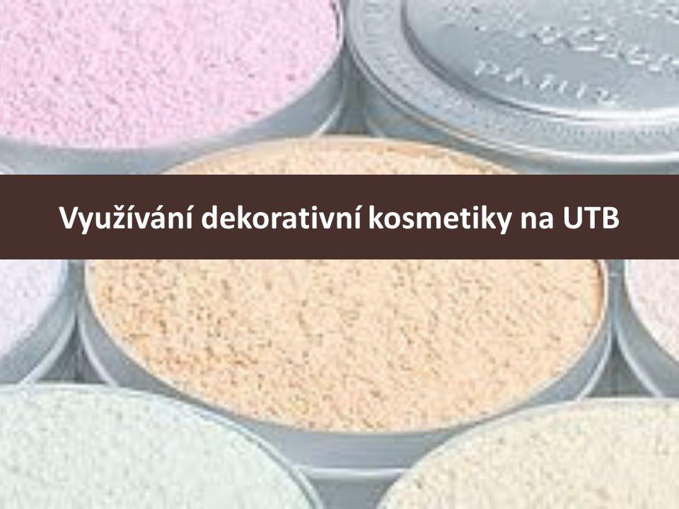 Využívání dekorativní kosmetiky na UTB