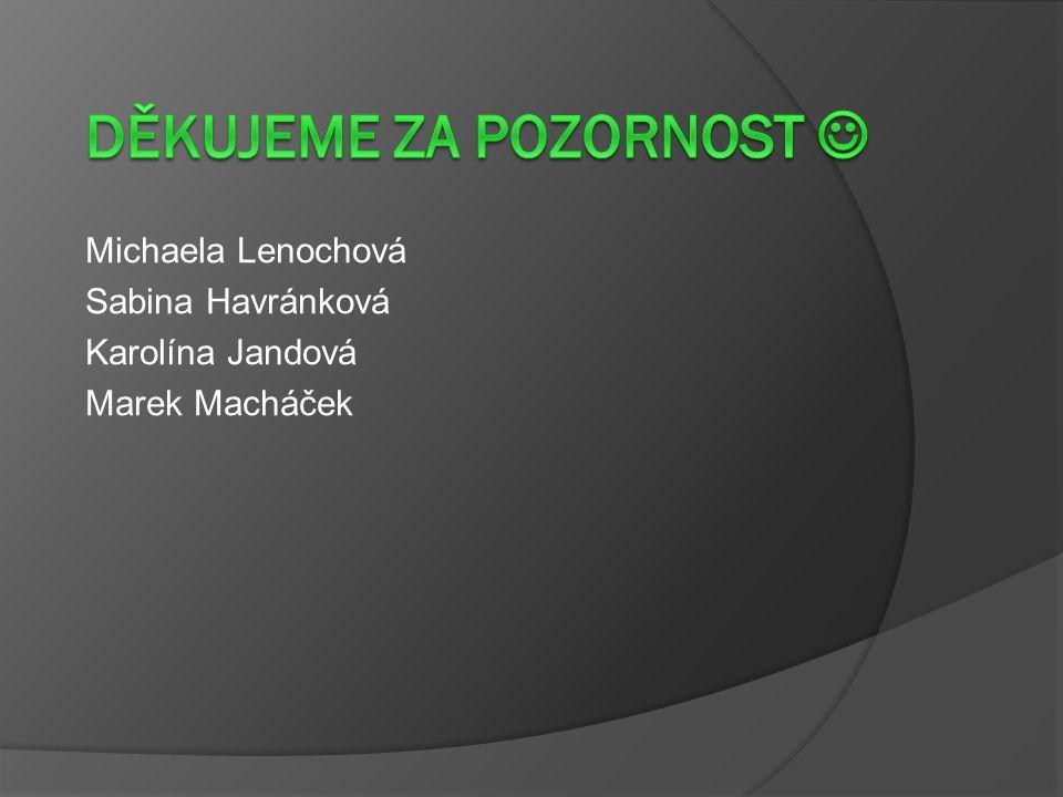 Michaela Lenochová Sabina Havránková Karolína Jandová Marek Macháček