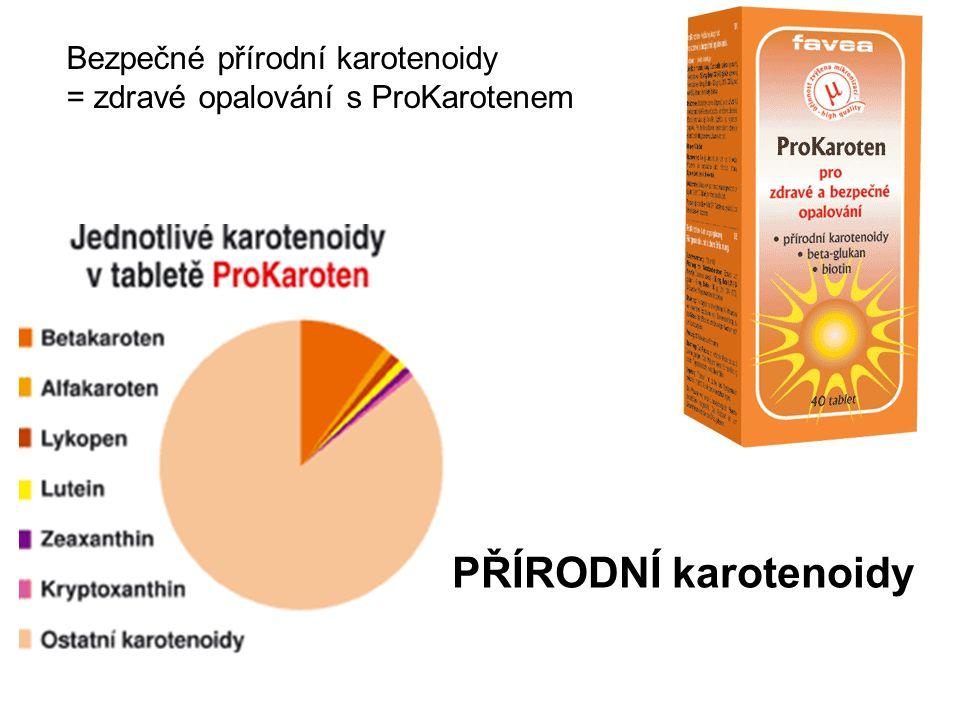 Bezpečné přírodní karotenoidy = zdravé opalování s ProKarotenem PŘÍRODNÍ karotenoidy