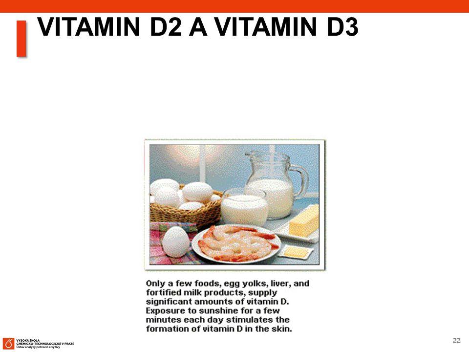 22 VITAMIN D2 A VITAMIN D3