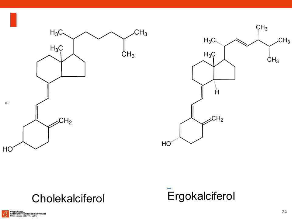 24 Cholekalciferol Ergokalciferol