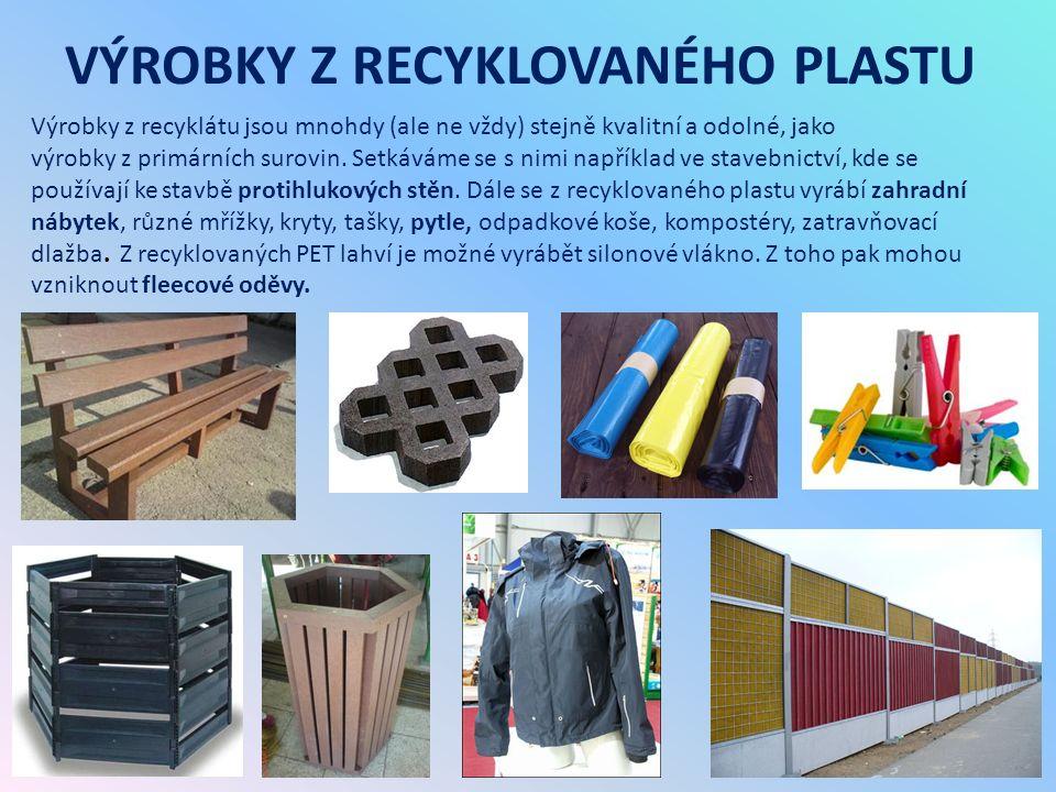 RECYKLACE PLASTU TŘÍDÍCÍ LINKA – vytřídí se PET obaly, průhledné fólie a pevné duté plasty (např.