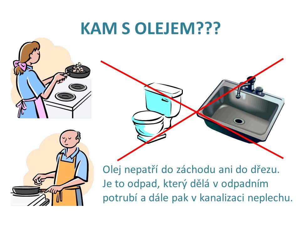 POUŽITÉ ROSTLINNÉ OLEJE Smažíte doma na řízky nebo děláte hranolky ve friťáku.