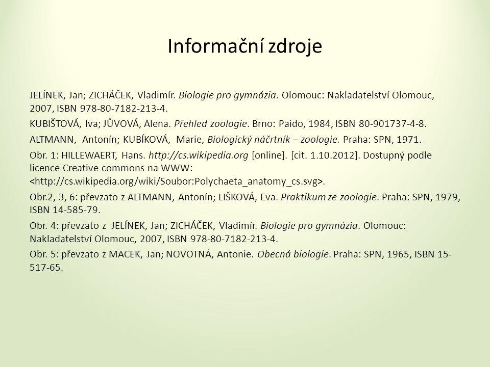 Informační zdroje JELÍNEK, Jan; ZICHÁČEK, Vladimír.