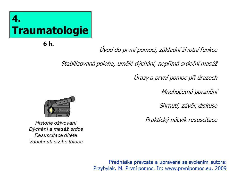 4. Traumatologie 6 h. Přednáška převzata a upravena se svolením autora: Przybylak, M.