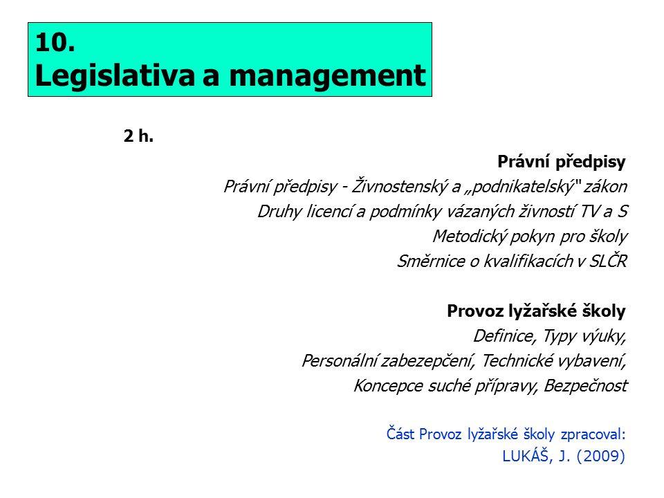 10. Legislativa a management 2 h.
