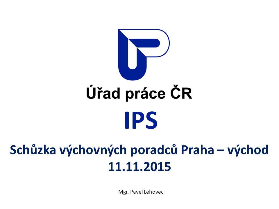 IPS Schůzka výchovných poradců Praha – východ 11.11.2015 Mgr. Pavel Lehovec