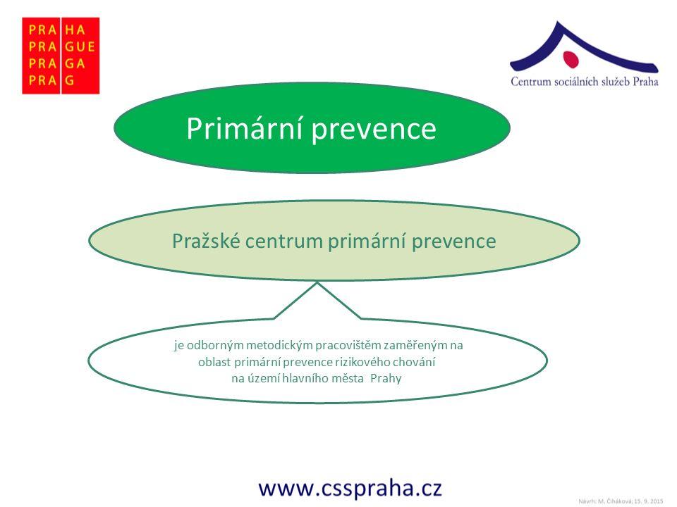 Primární prevence Pražské centrum primární prevence je odborným metodickým pracovištěm zaměřeným na oblast primární prevence rizikového chování na území hlavního města Prahy