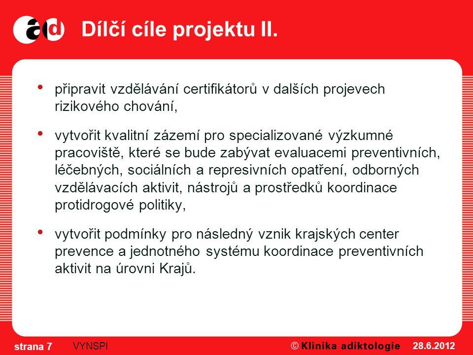 Dílčí cíle projektu II.