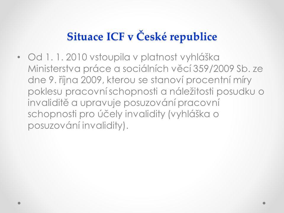 Situace ICF v České republice Od 1. 1.