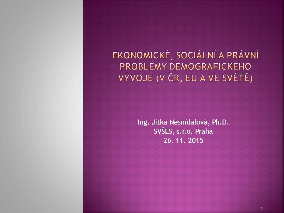 Ing. Jitka Nesnídalová, Ph.D. SVŠES, s.r.o. Praha 26. 11. 2015 1