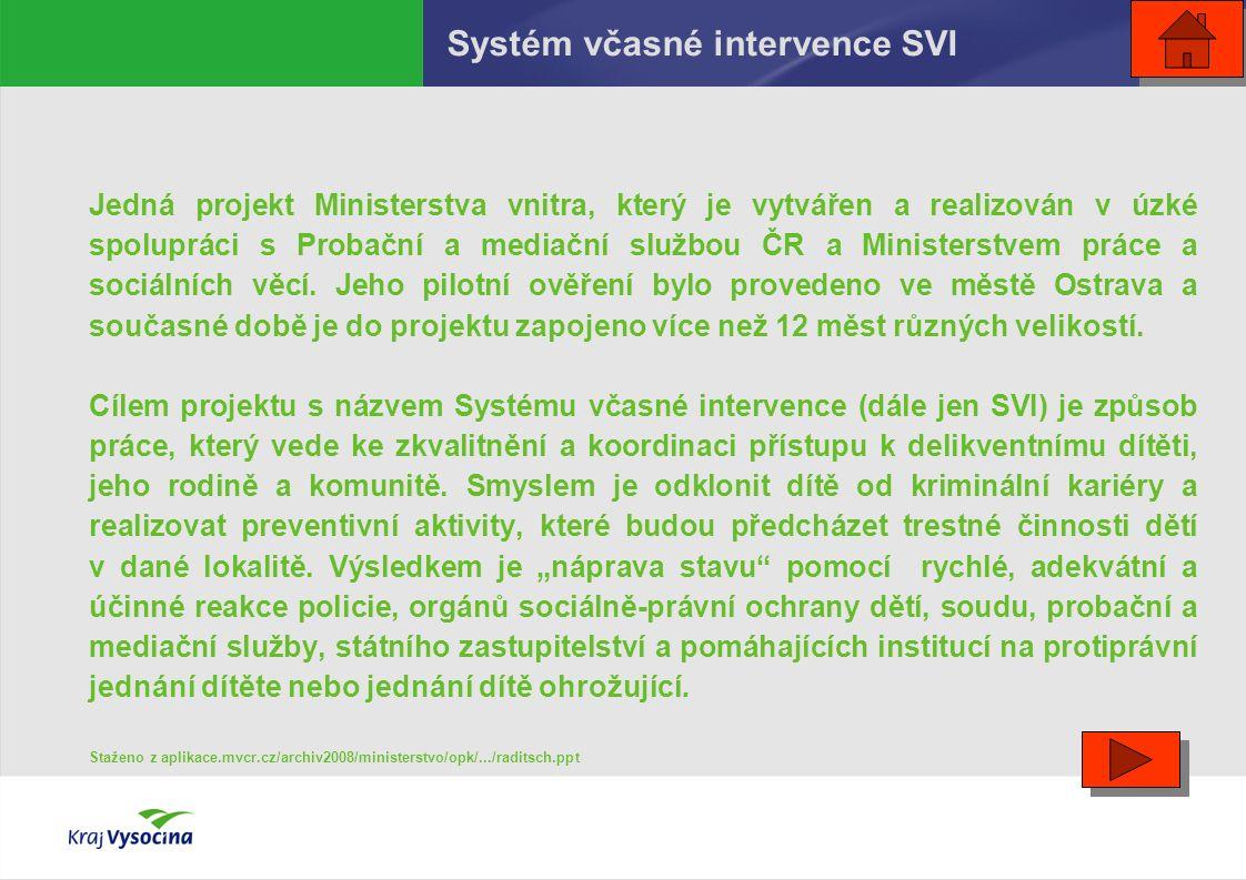 Jedná projekt Ministerstva vnitra, který je vytvářen a realizován v úzké spolupráci s Probační a mediační službou ČR a Ministerstvem práce a sociálníc