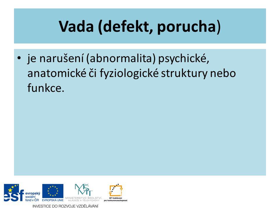 Vada (defekt, porucha) je narušení (abnormalita) psychické, anatomické či fyziologické struktury nebo funkce.