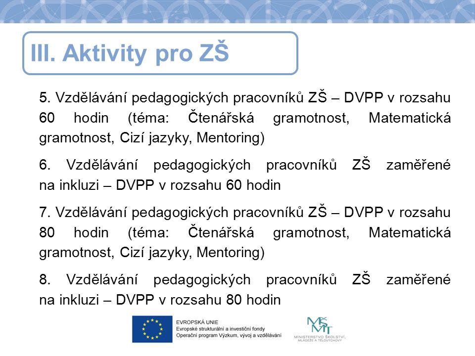 III.Aktivity pro ZŠ 5.