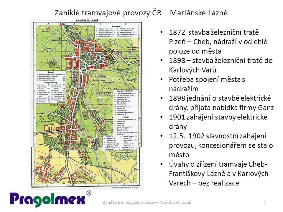 Zaniklé tramvajové provozy ČR – Mariánské Lázně Vrak tramvaje č.7 v Jablonci n N.