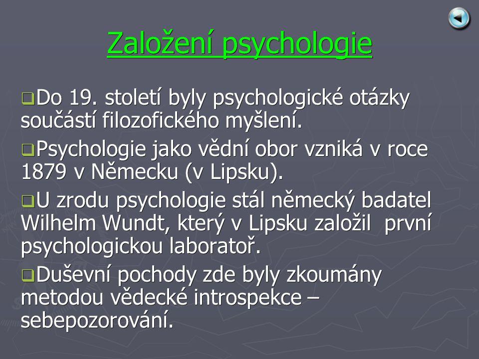 Založení psychologie DDDDo 19.