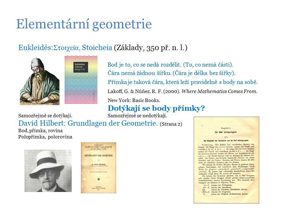 Elementární geometrie Eukleidés: Στοιχεία, Stoicheia (Základy, 350 př.