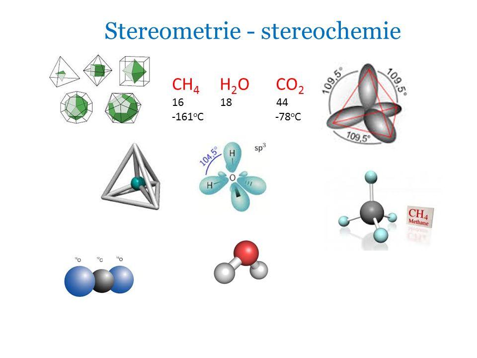 Stereometrie - stereochemie CH 4 H 2 O CO 2 16 18 44 -161 o C -78 o C