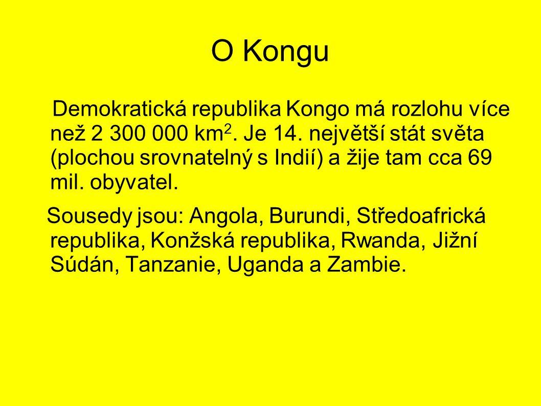 O Kongu Demokratická republika Kongo má rozlohu více než 2 300 000 km 2.