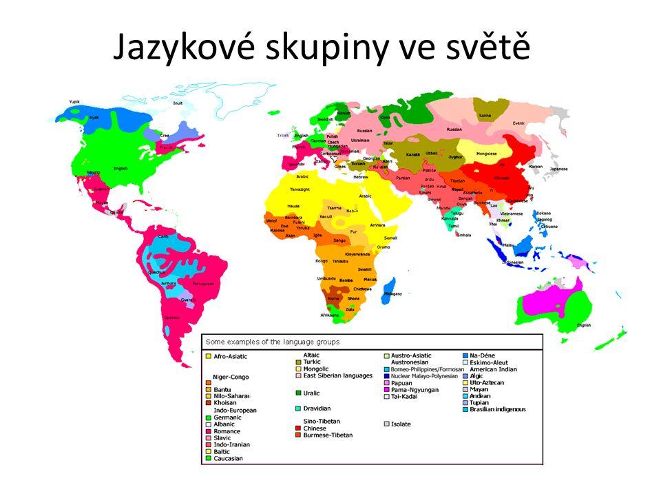 Jazykové skupiny ve světě
