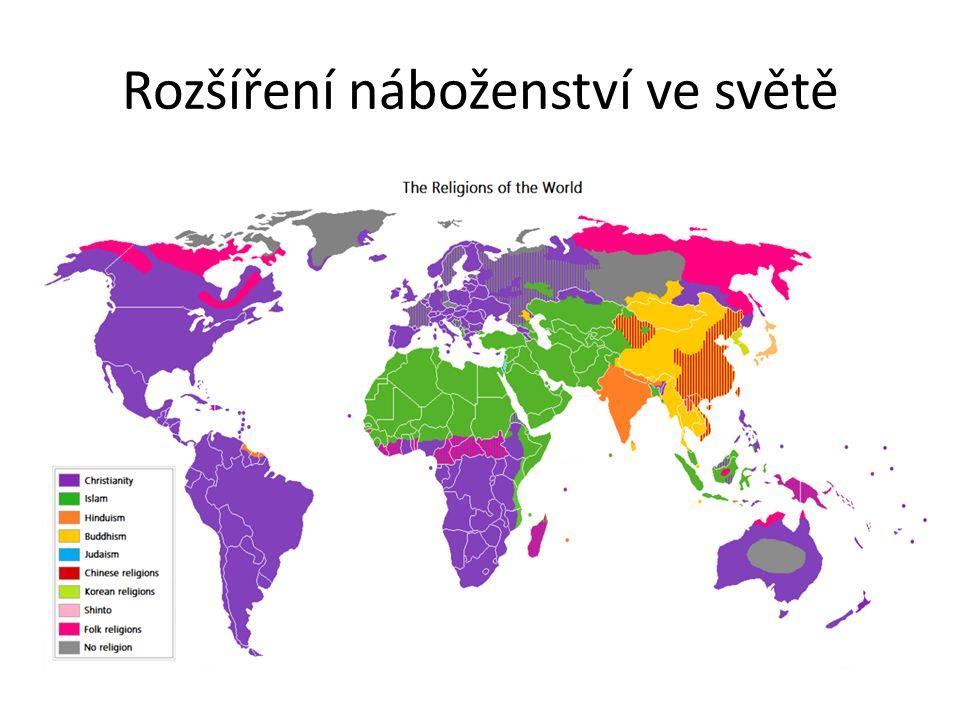 Rozšíření náboženství ve světě