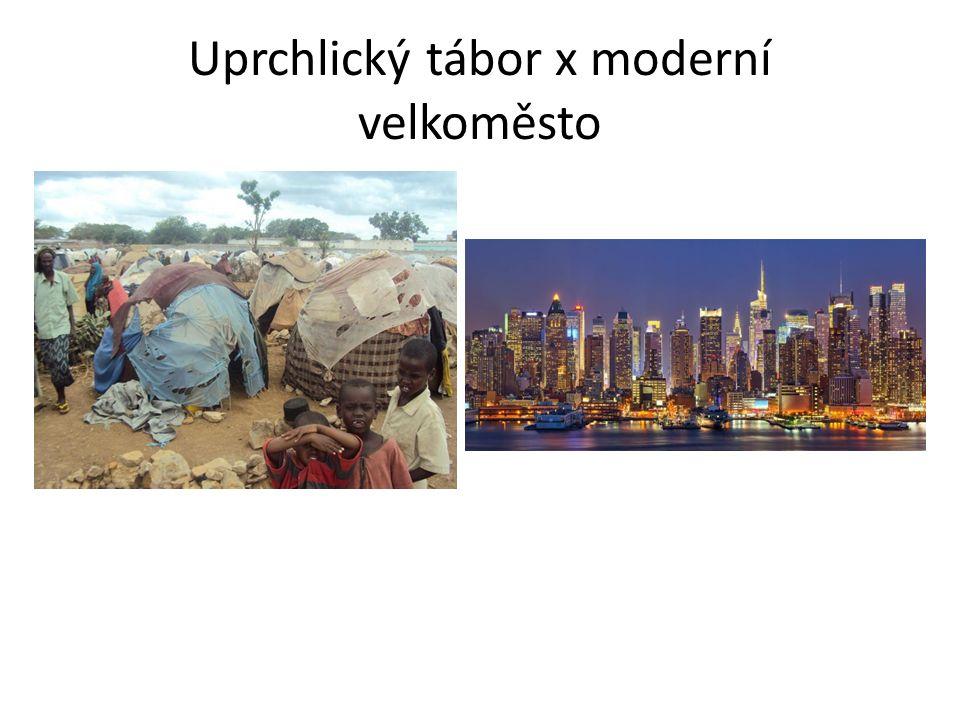 Uprchlický tábor x moderní velkoměsto
