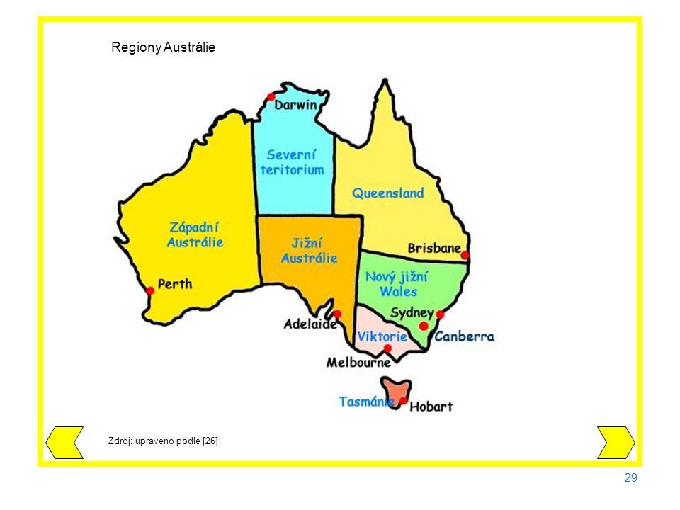29 Zdroj: upraveno podle [26] Regiony Austrálie