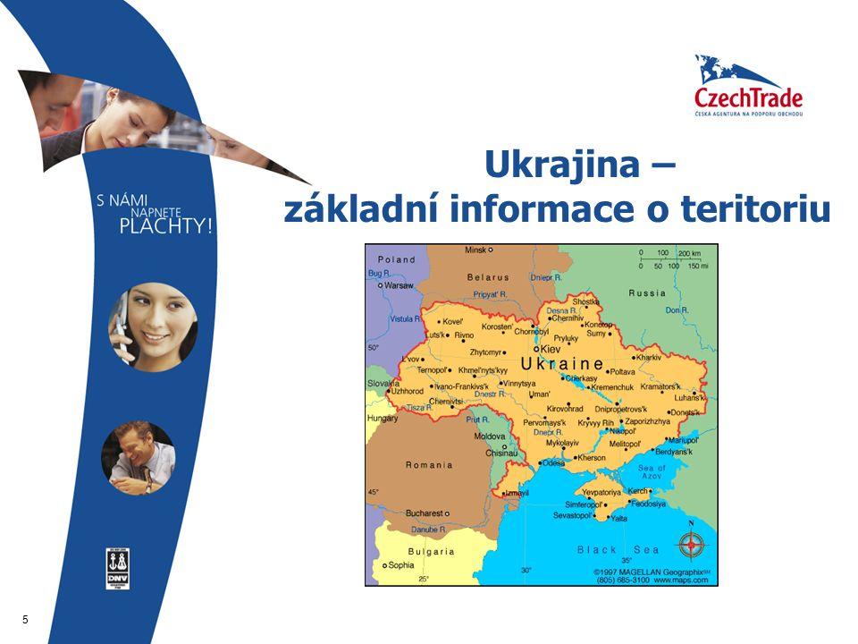 5 Ukrajina – základní informace o teritoriu