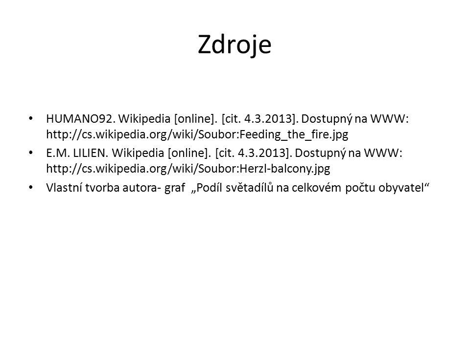 Zdroje HUMANO92.Wikipedia [online]. [cit. 4.3.2013].
