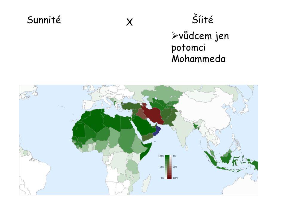 SunnitéŠíité  vůdcem jen potomci Mohammeda X