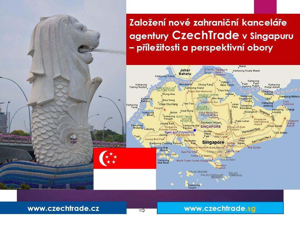 Založení nové zahraniční kanceláře agentury CzechTrade v Singapuru – příležitosti a perspektivní obory ZÁMĚRY ČINNOSTI ZK SINGAPUR www.czechtrade.cz www.czechtrade.sg