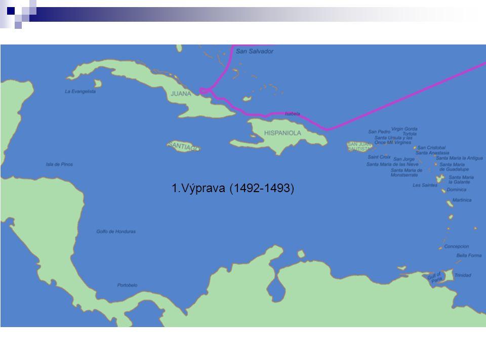 2.výprava Portoriko Jamajka Guadeloupe prozkoumal velkou část Kuby na Hispaňole založil 1.evropské město v Americe