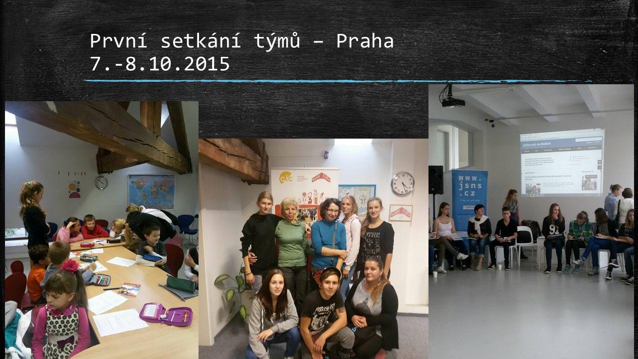 První setkání týmů – Praha 7.-8.10.2015