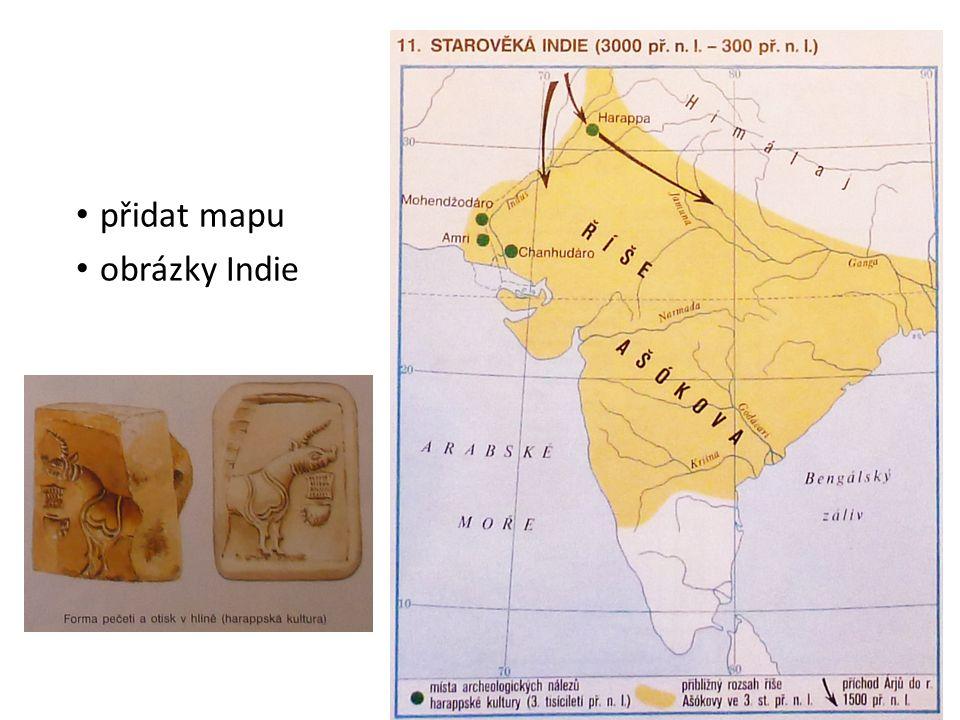 přidat mapu obrázky Indie