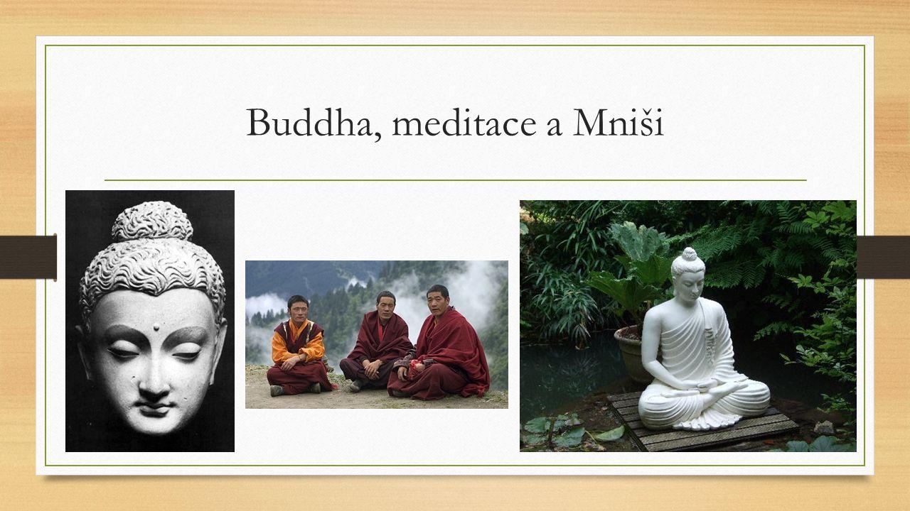 Buddha, meditace a Mniši