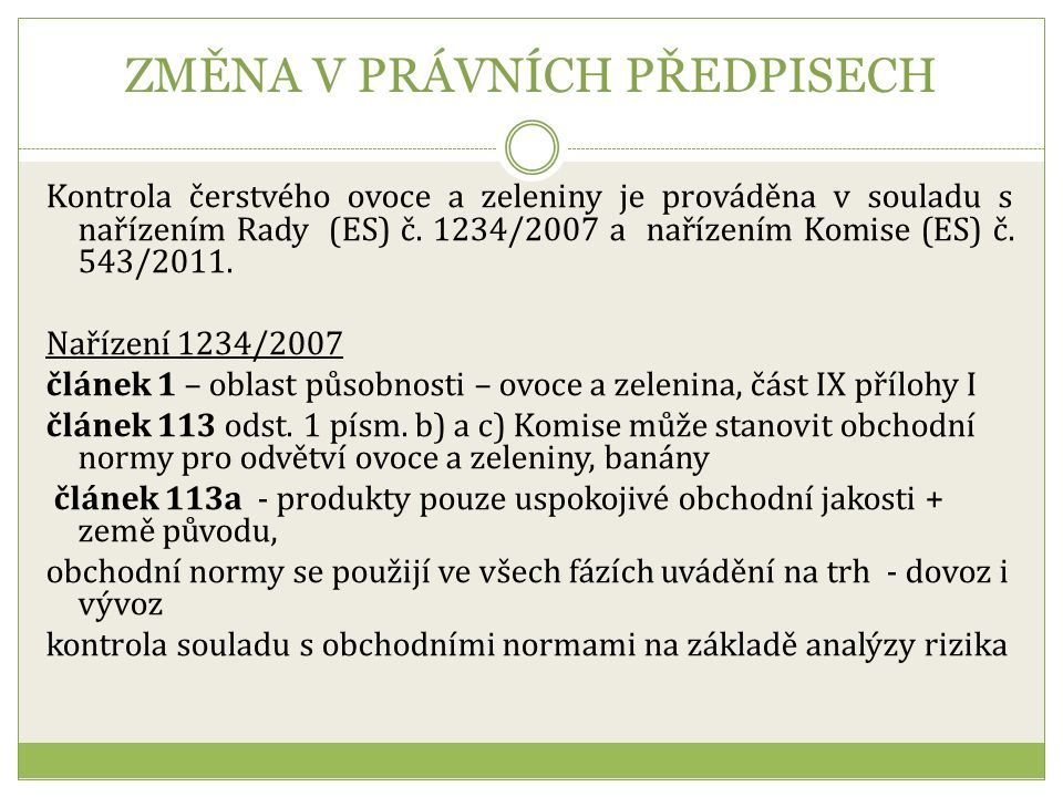 Obchodní norma jablka I. jakost