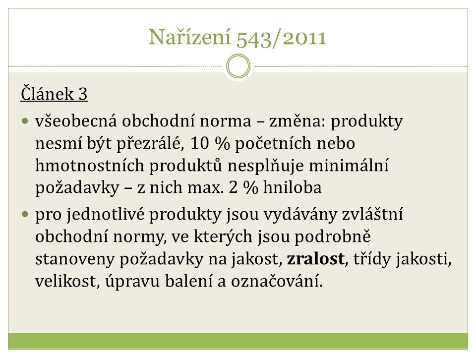 Obchodní norma pro papriku II. Jakost