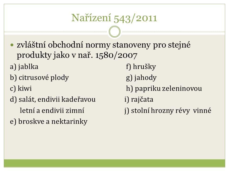 Obchodní norma pro broskve a nektarinky II.jakost