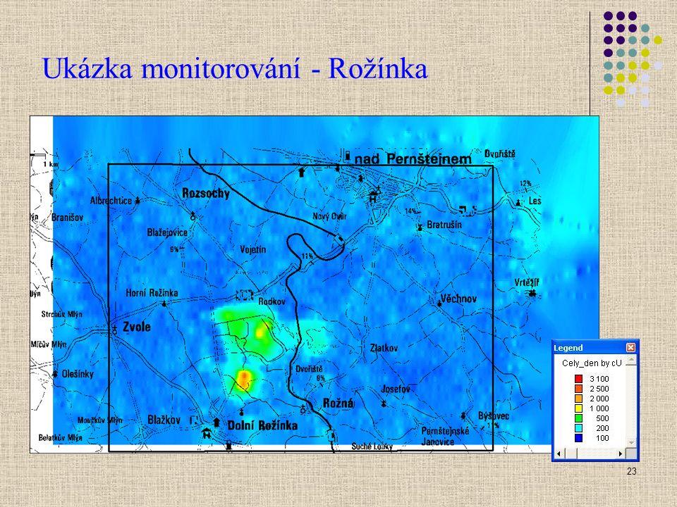 23 Ukázka monitorování - Rožínka