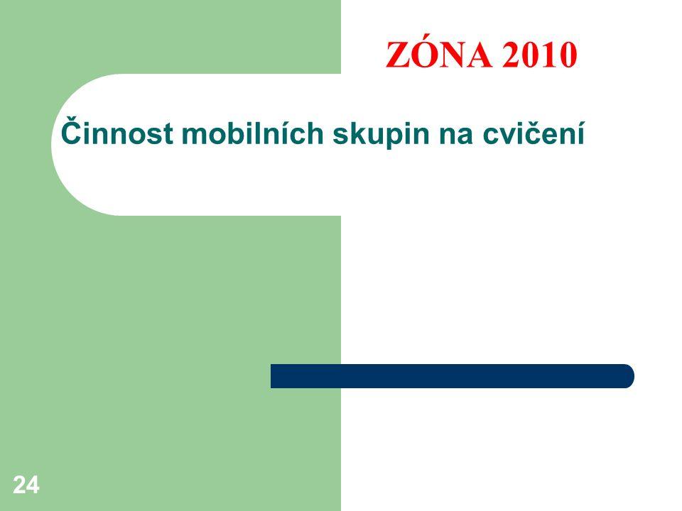 24 Činnost mobilních skupin na cvičení ZÓNA 2010