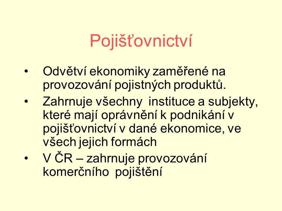 Pojišťovny ČR (únor 2016)