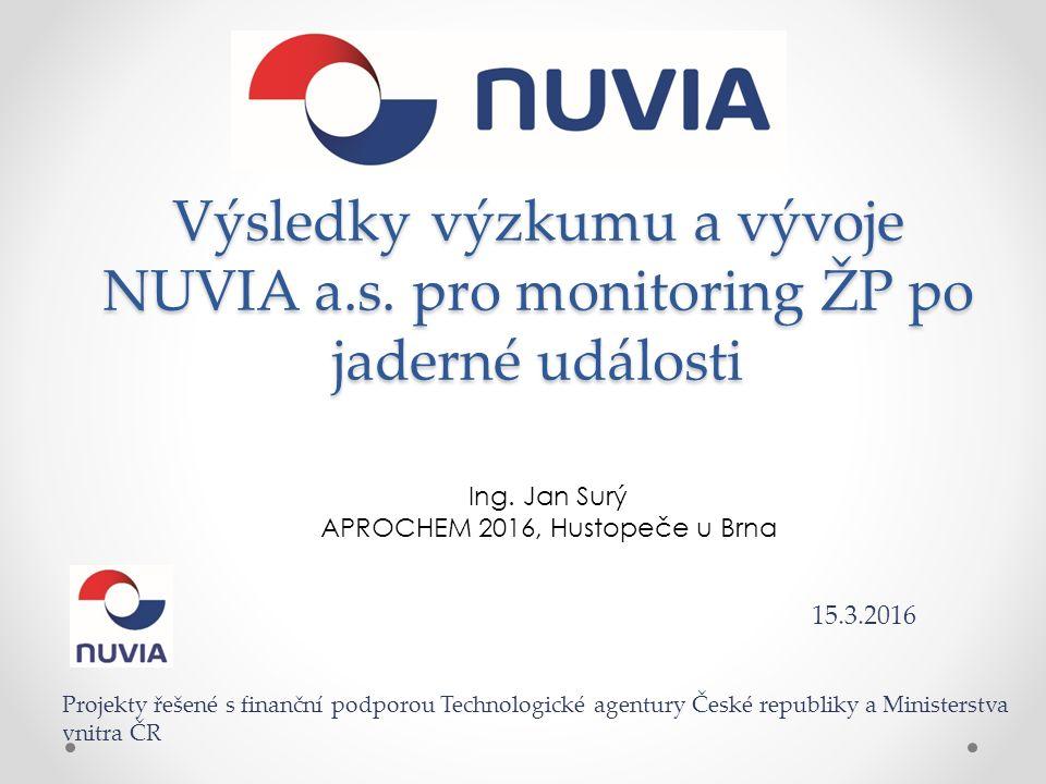 Výsledky výzkumu a vývoje NUVIA a.s. pro monitoring ŽP po jaderné události Ing.