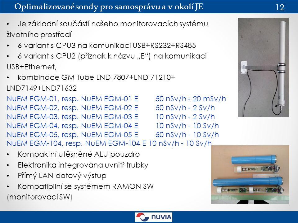"""Je základní součástí našeho monitorovacích systému životního prostředí 6 variant s CPU3 na komunikaci USB+RS232+RS485 6 variant s CPU2 (příznak k názvu """"E ) na komunikaci USB+Ethernet, kombinace GM Tube LND 7807+LND 71210+ LND7149+LND71632 NuEM EGM-01, resp."""