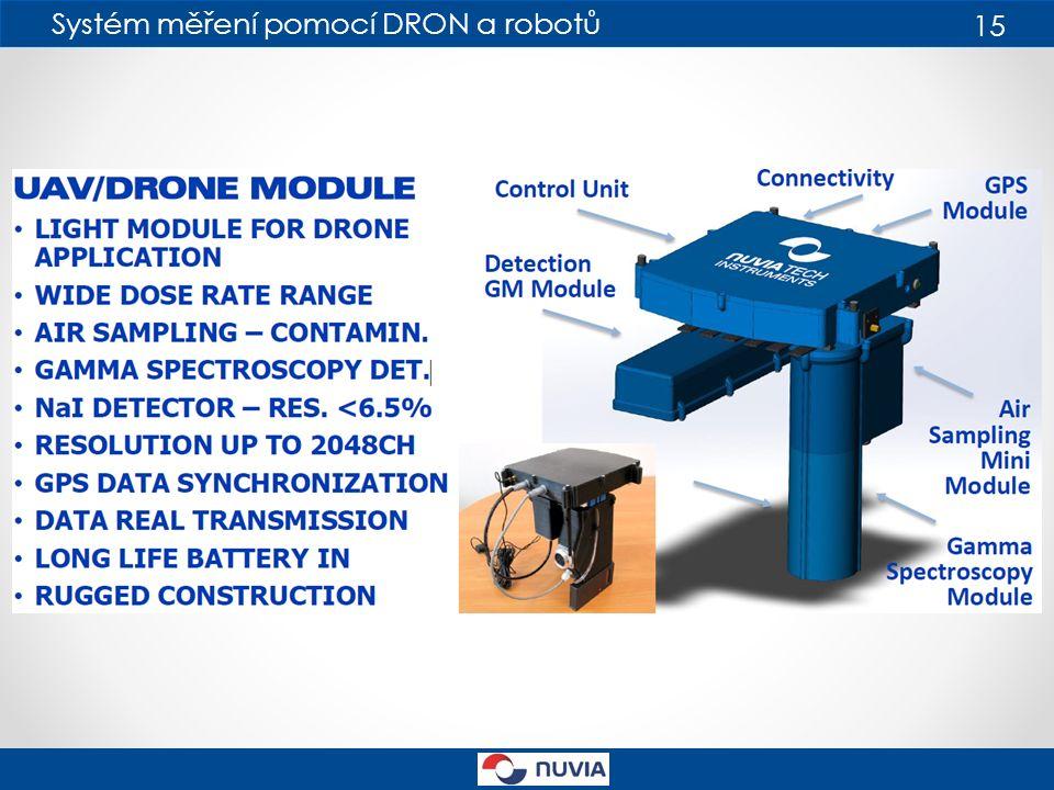 Systém měření pomocí DRON a robotů 15