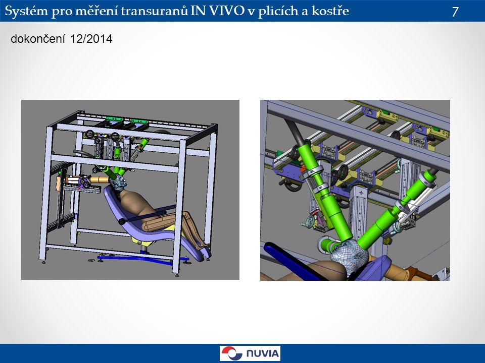 Systém pro měření transuranů IN VIVO v plicích a kostře 7 dokončení 12/2014